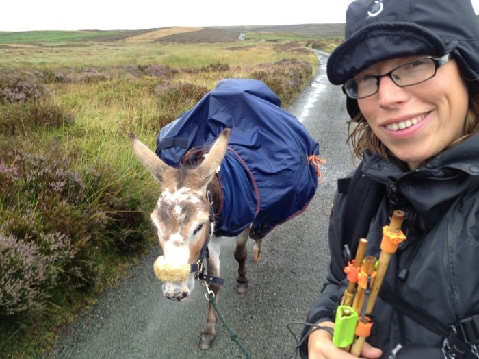Hannah and her donkey